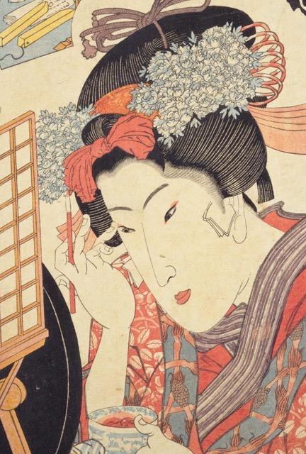 当世美人合踊師匠(部分) 歌川国貞画 国立国会図書館