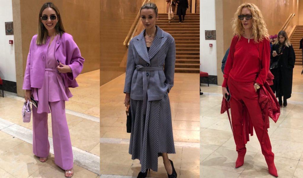 藤岡篤子の毎日コレクション! ロシャスのコレクション会場で「キレイ色」を巧みに操る美女3人をSNAP<2020年パリコレクション DAY2>