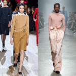 2020-21秋冬コレクション  ~Pants(パンツ) メンズ調ワイドストレート継続。タックやウエストボリュームで女らしさをプラス。制服調のボーイッシュなバミューダも。
